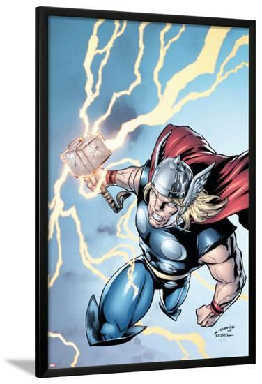 Marvel Adventures Super Heroes No.7 Cover: Thor-Salvador Espin-Lamina Framed Poster
