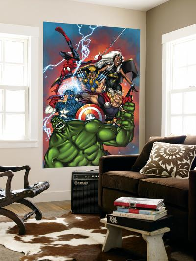 Marvel Adventures The Avengers No.36 Cover: Hulk-Ig Guara-Wall Mural