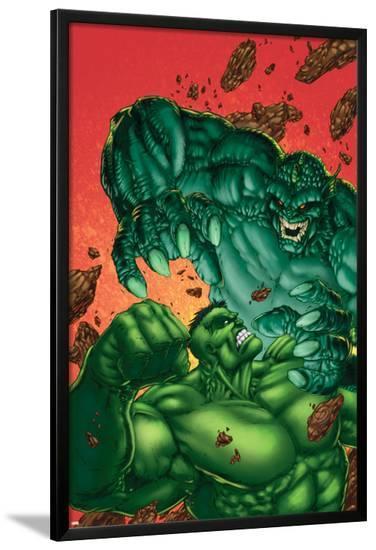 Marvel Age Hulk No.4 Cover: Hulk and Abomination-John Barber-Lamina Framed Poster
