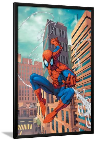 Marvel Age Spider-Man No.18 Cover: Spider-Man-Roger Cruz-Lamina Framed Poster
