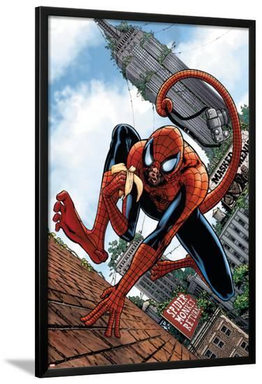 Marvel Apes: Amazing Spider-Monkey Special #1 Cover: Spider-Man-John Watson-Lamina Framed Poster