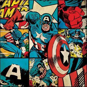 Marvel Comics Retro Badge Featuring Captain America