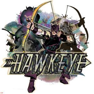 Marvel Comics Retro Badge Featuring Hawkeye