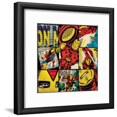 Marvel Comics Retro Badge Featuring Iron Man