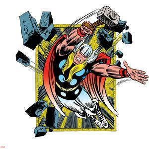 Marvel Comics Retro Badge Featuring Thor