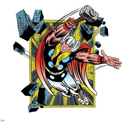 Marvel Comics Retro Badge Featuring Thor--Art Print