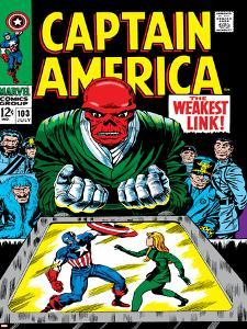 Marvel Comics Retro: Captain America Comic Book Cover No.103, Red Skull, the Weakest Link