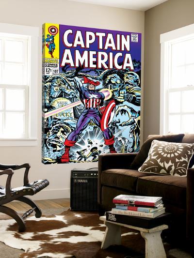 Marvel Comics Retro: Captain America Comic Book Cover No.107, with Red Skull and Bucky--Loft Art