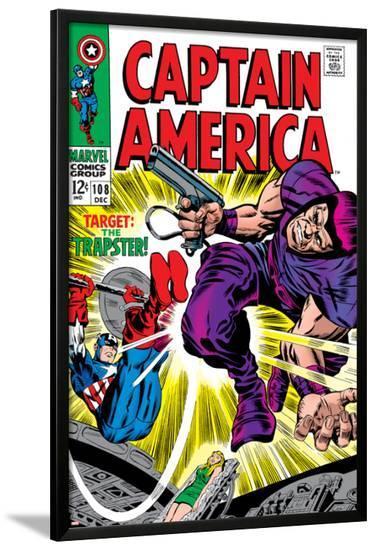 Marvel Comics Retro: Captain America Comic Book Cover No.108, the Trapster--Lamina Framed Poster