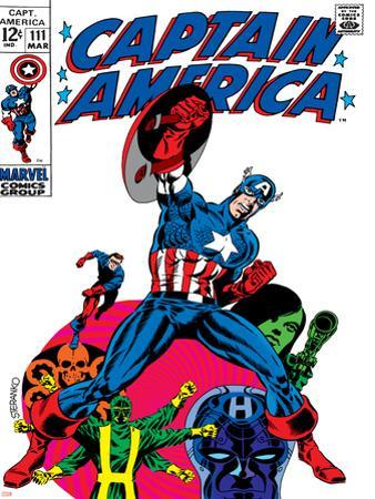 Marvel Comics Retro: Captain America Comic Book Cover No.111, with Hydra and Bucky