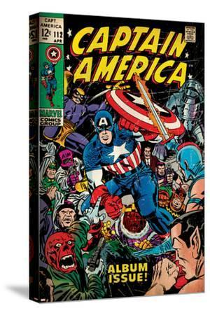 Marvel Comics Retro: Captain America Comic Book Cover No.112, Album Issue! (aged)