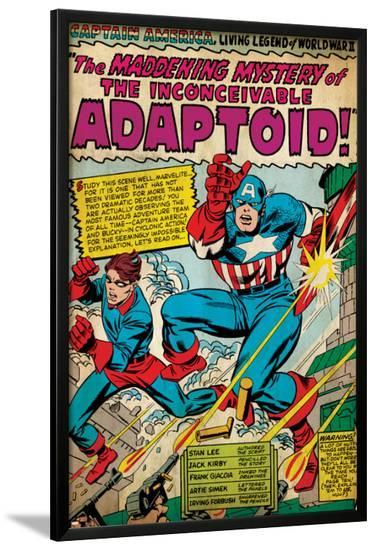 Marvel Comics Retro: Captain America Comic Panel, The Inconceivable Adaptoid! with Bucky (aged)--Lamina Framed Poster