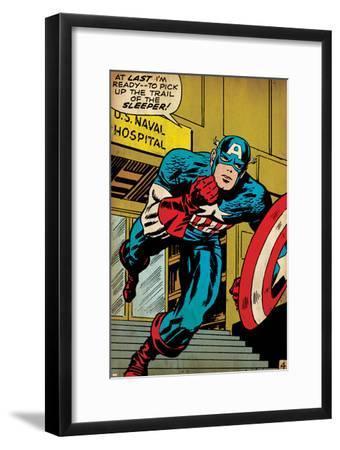 Marvel Comics Retro: Captain America Comic Panel, U.S. naval Hospital (aged)