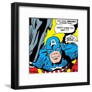 Marvel Comics Retro: Captain America Comic Panel, Villain Monologue, Say your Prayers