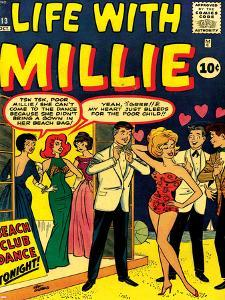 Marvel Comics Retro: Life with Millie Comic Book Cover No.13, Bathing Suit, Beach Club Dance