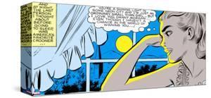 Marvel Comics Retro: Love Comic Panel, Alone at Window under Moonlight