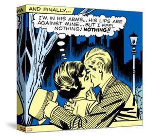 Marvel Comics Retro: Love Comic Panel, Kissing in the Park