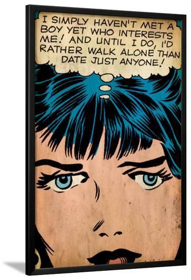 Marvel Comics Retro: Love Comic Panel, Proud Single Woman (aged)--Lamina Framed Poster