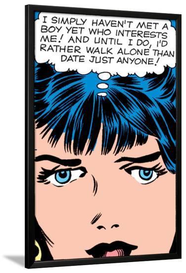 Marvel Comics Retro: Love Comic Panel, Proud Single Woman--Lamina Framed Poster