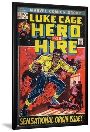 Marvel Comics Retro: Luke Cage, Hero for Hire Comic Book Cover No.1, Origin (aged)