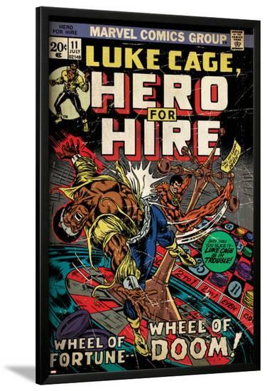 Marvel Comics Retro: Luke Cage, Hero for Hire Comic Book Cover No.11 (aged)--Lamina Framed Poster