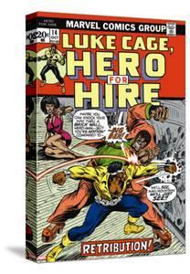 Marvel Comics Retro: Luke Cage, Hero for Hire Comic Book Cover No.14, Fighting Big Ben