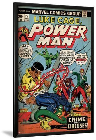 Marvel Comics Retro: Luke Cage, Hero for Hire Comic Book Cover No.25, Crime and Circus (aged)