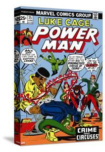 Marvel Comics Retro: Luke Cage, Hero for Hire Comic Book Cover No.25, Crime and Circus