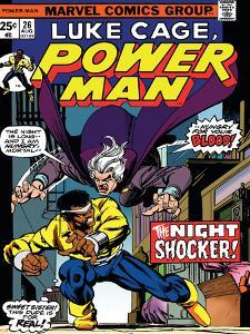 Marvel Comics Retro: Luke Cage, Hero for Hire Comic Book Cover No.26, the Night Shocker!