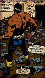 Marvel Comics Retro: Luke Cage, Hero for Hire Comic Panel (aged)