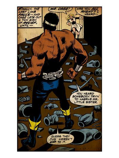 Marvel Comics Retro: Luke Cage, Hero for Hire Comic Panel (aged)--Art Print