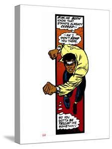 Marvel Comics Retro: Luke Cage, Hero for Hire Comic Panel, Charging