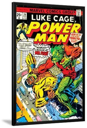 Marvel Comics Retro: Luke Cage, Power Man Comic Book Cover No.29, Fighting Mr. Fish