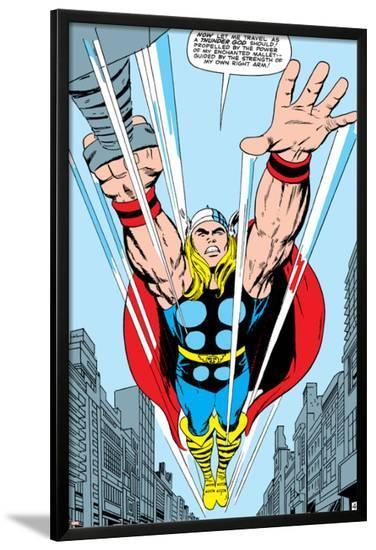Marvel Comics Retro: Mighty Thor Comic Panel, Flying--Lamina Framed Poster