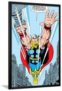 Marvel Comics Retro: Mighty Thor Comic Panel, Flying