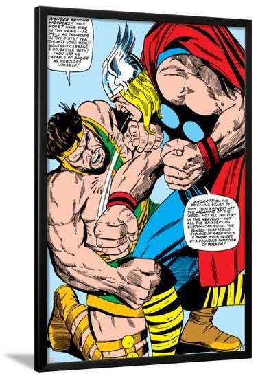 Marvel Comics Retro: Mighty Thor Comic Panel, Hercules--Lamina Framed Poster
