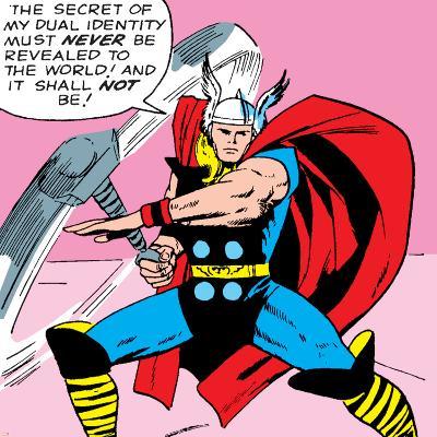 Marvel Comics Retro: Mighty Thor Comic Panel--Art Print