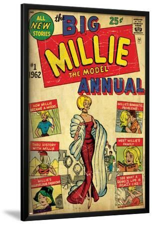 Marvel Comics Retro: Millie the Model Comic Book Cover No.1, the Big Annual (aged)