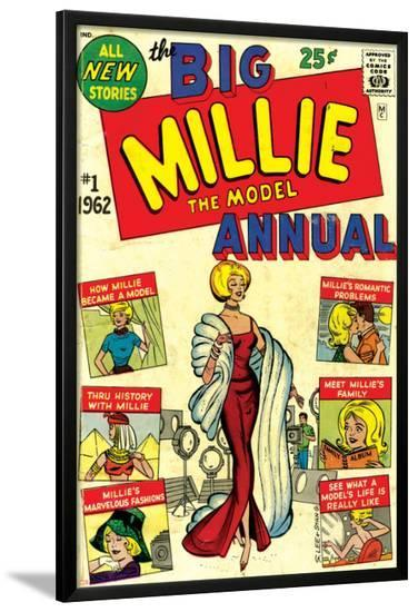 Marvel Comics Retro: Millie the Model Comic Book Cover No.1, the Big Annual--Lamina Framed Poster