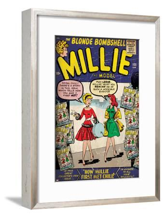 Marvel Comics Retro: Millie the Model Comic Book Cover No.100, How Millie First Met Chili! (aged)