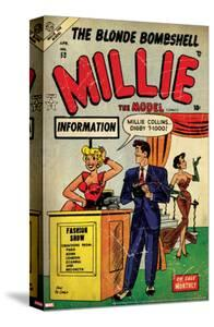 Marvel Comics Retro: Millie the Model Comic Book Cover No.53, Fashion Show Information Booth (aged)