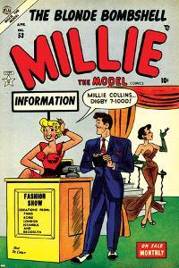 Marvel Comics Retro: Millie the Model Comic Book Cover No.53, Fashion Show Information Booth