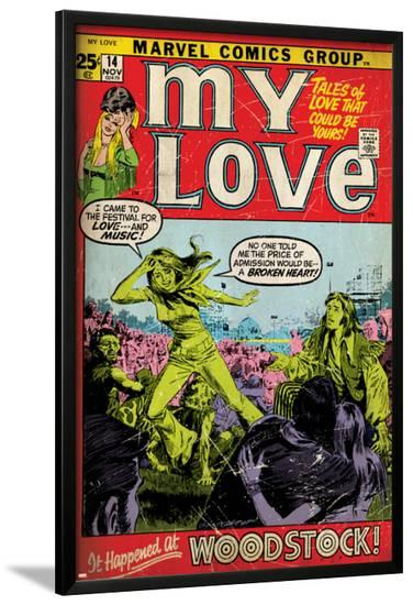 Marvel Comics Retro: My Love Comic Book Cover No.14, Woodstock (aged)--Lamina Framed Poster