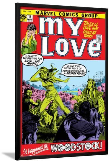 Marvel Comics Retro: My Love Comic Book Cover No.14, Woodstock--Lamina Framed Poster