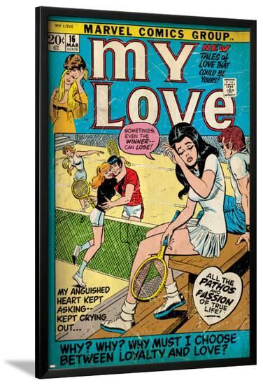 Marvel Comics Retro: My Love Comic Book Cover No.16, Tennis, Pathos and Passion (aged)--Lamina Framed Poster