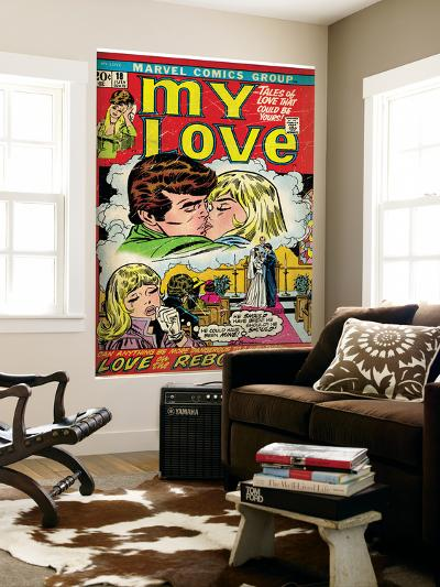 Marvel Comics Retro: My Love Comic Book Cover No.18, Kissing, Love on the Rebound (aged)--Wall Mural