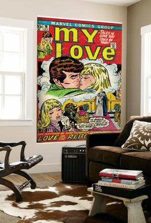 Marvel Comics Retro: My Love Comic Book Cover No.18, Kissing, Love on the Rebound (aged)