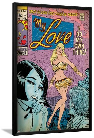 Marvel Comics Retro: My Love Comic Book Cover No.2, Crying and Dancing (aged)--Lamina Framed Poster