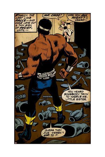 Marvel Comics Retro Style Guide: Cage, Luke--Art Print