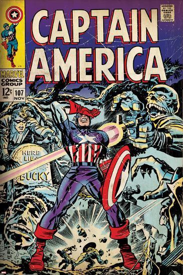 Marvel Comics Retro Style Guide: Captain America, Bucky, Red Skull--Art Print
